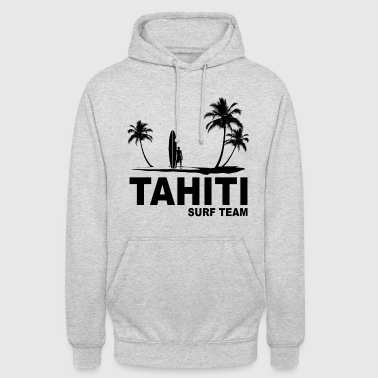 Tahiti surf team - Sweat-shirt à capuche unisexe