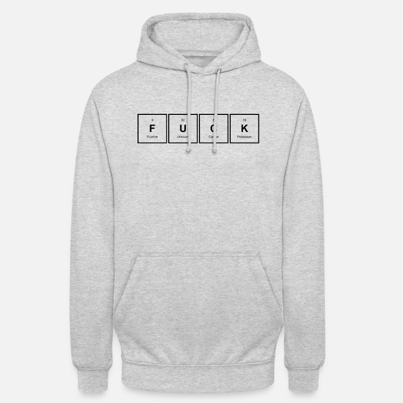 Bolle Sweatshirts - FUCK periodically - Unisex hættetrøje lysegrå meleret