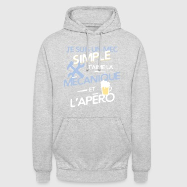 Mécanique - un mec simple - Sweat-shirt à capuche unisexe