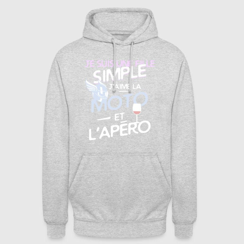 Motarde - une fille simple - Sweat-shirt à capuche unisexe