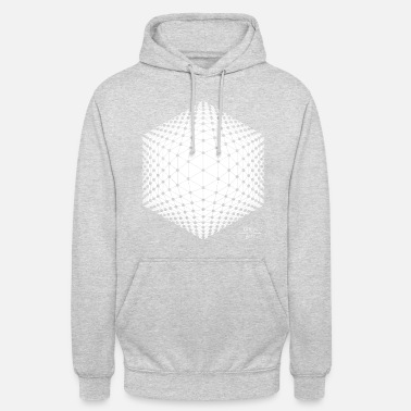 HEXAGON Relief White - Hoodie unisex