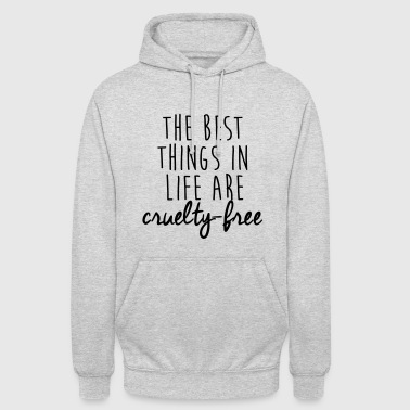 Animal The best things in life are cruelty-free - Unisex Hoodie