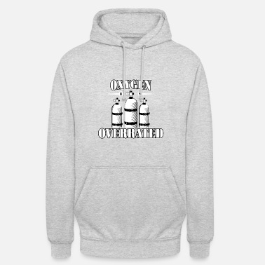 Watersports OXYGEN IS OVERRATED Swimming swimmers divers - Unisex Hoodie