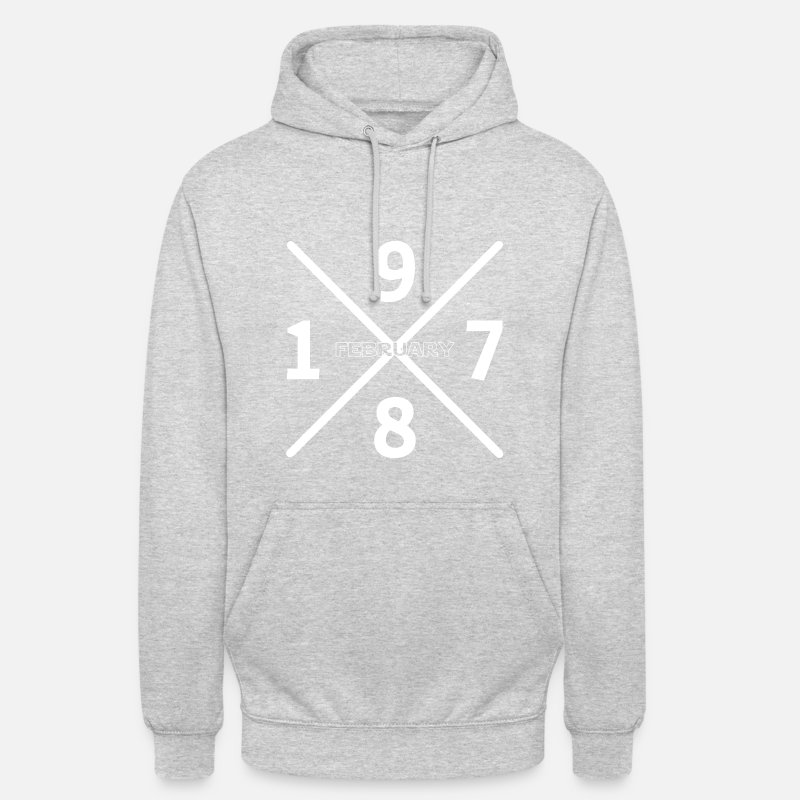 1978 Hoodies & Sweatshirts - Birthday February 1978 - Unisex Hoodie heather grey