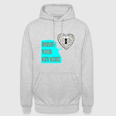 Heart Keyhole ♡ ~ insert your key - Unisex Hoodie