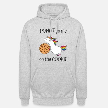 Keks Einhorn Spruch Donut Go Me On The Cookie mit Keks - Unisex Hoodie