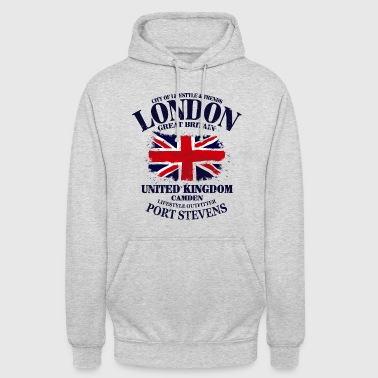 London - Union Jack Vintage Flag - Unisex Hoodie