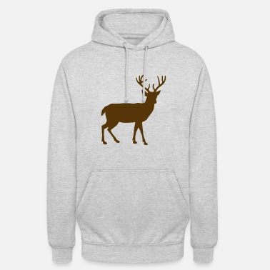 Stag Brown stag in nature - Unisex Hoodie
