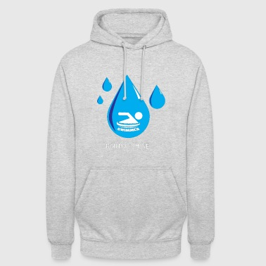 Swimmer in the water - Unisex Hoodie