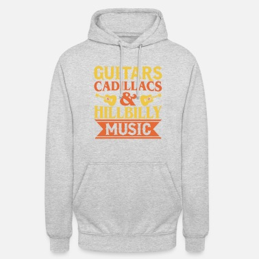 Cadillac Guitares Cadillacs & Hillbilly Music - Sweat-shirt à capuche unisexe