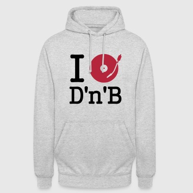 i dj / play / listen to drum and bass - Sweat-shirt à capuche unisexe
