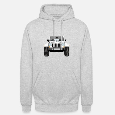Jeep Jeep blanc - Sweat-shirt à capuche unisexe