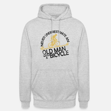 Cyclist Never underestimate a cyclist on the bike - Unisex Hoodie