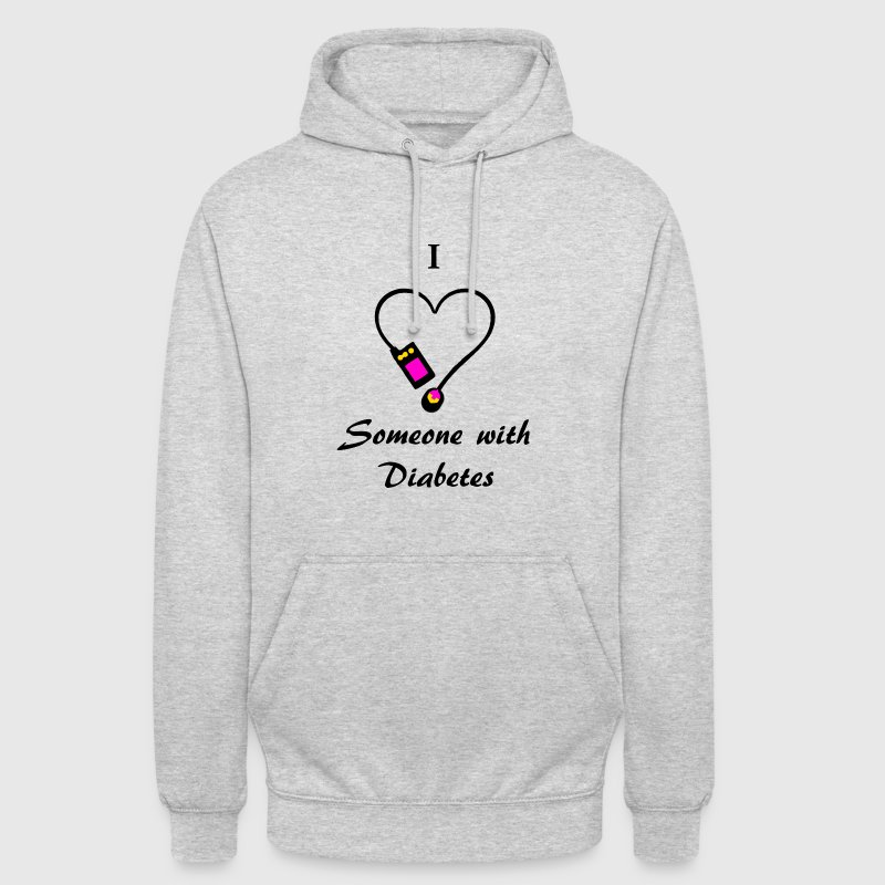 I Love Someone With Diabetes - Pump 2- P/O - Unisex Hoodie