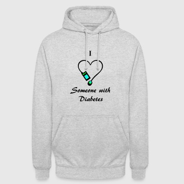 I Love Someone With Diabetes - Pump 2 - B/G - Unisex Hoodie