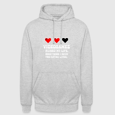 Video Games Ruined My Life Lustig Spruch Geschenk - Unisex Hoodie