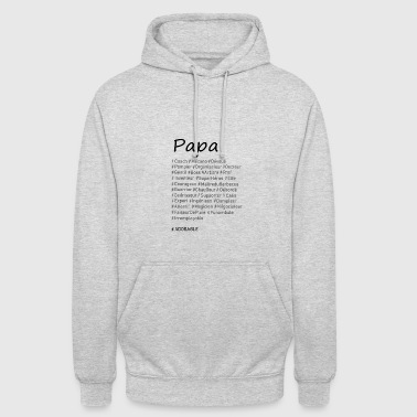 Papa# - Sweat-shirt à capuche unisexe