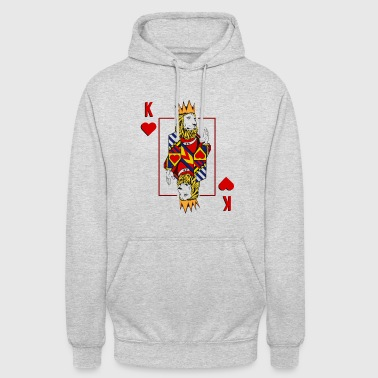 Poker Lion King Hearts Design Poker Card Lion Heart - Unisex-hettegenser