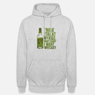 Whisky Truc ou gâterie au whiskey Halloween - Sweat-shirt à capuche unisexe