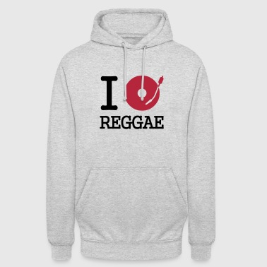 i dj / play / listen to reggae - Sweat-shirt à capuche unisexe