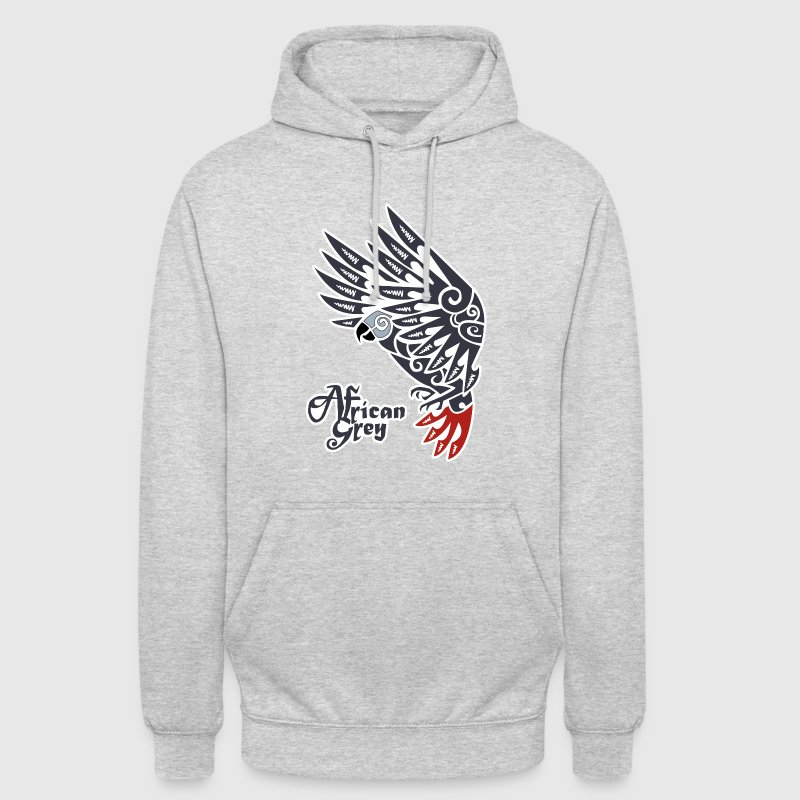 African grey parrot tribal tattoo - Unisex Hoodie
