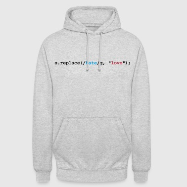 replace hate with love - Unisex-hettegenser