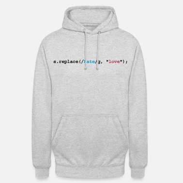 Nerd replace hate with love - Unisex Hoodie