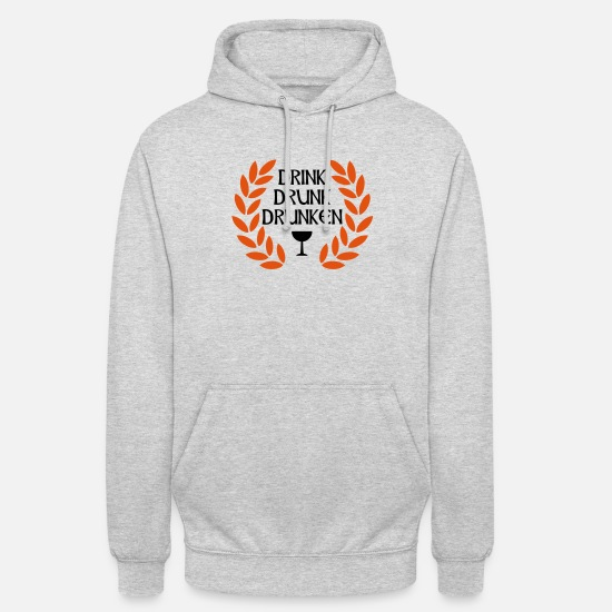 Cool Hoodies & Sweatshirts - drink drunk drunken - Unisex Hoodie light heather grey