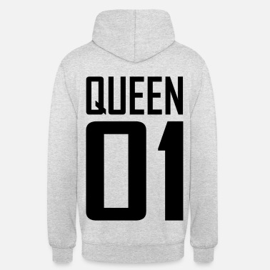 Hipster XXL LOGO QUEEN 01 schwarz/black - Partnerlook - Unisex Hoodie