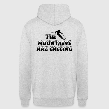 Skilehrer The Mountains are Calling Ski Skifahrer - Unisex Hoodie