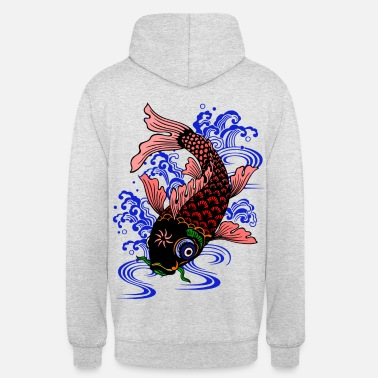 Japon Poisson Japonais - Sweat-shirt à capuche unisexe