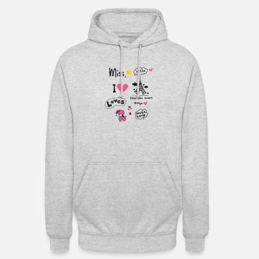 badges_paris Little Girl Miss pink Herz Teenie sta - Unisex Hoodie