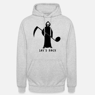 Grim Reaper con nota musical Camiseta premium hombre  0f79f280964