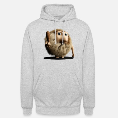Primitive Man Neanderthal Neanderthal primitive man with club - Unisex Hoodie