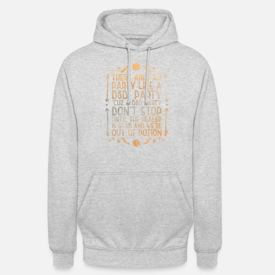 Dungeons And Dragons Hoodies & Sweatshirts - Dice Game Nerd Fantasy D20 RPG Dungeon Dragon - Unisex Hoodie light heather grey