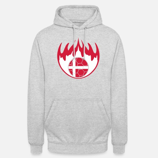Fire Extinguisher Hoodies & Sweatshirts - Denmark denmark flames fire hot burn fan - Unisex Hoodie light heather grey