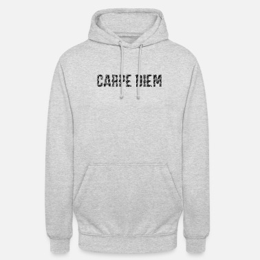 Carpe Diem Use the tag motif white - Unisex Hoodie