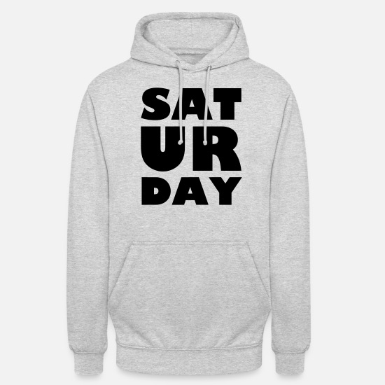 Saturday Night Live Sweat-shirts - samedi - Sweat à capuche unisexe gris clair chiné