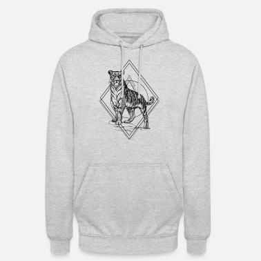Tiger Geometric Hipster Boho - Unisex hoodie