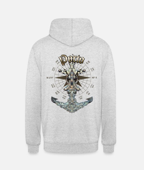 Diver Hoodies & Sweatshirts - Porto Anchor Nautical Sailing Boat Summer - Unisex Hoodie light heather grey