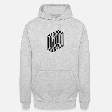 Meme &amp Optical Illusion (Impossible Minimal B & W Lines) - Unisex Hoodie