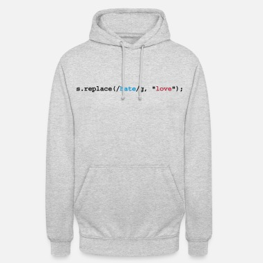 Geek replace hate with love - Sudadera con capucha unisex