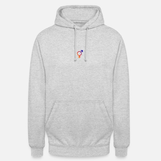 Sex Hoodies & Sweatshirts - he her - The third sex - Unisex Hoodie light heather grey