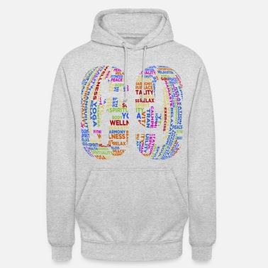 Text in English in colorful - Unisex Hoodie