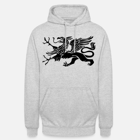 Gift Idea Hoodies & Sweatshirts - Rostock Griffin Hanseatic City of Rostock - Unisex Hoodie light heather grey