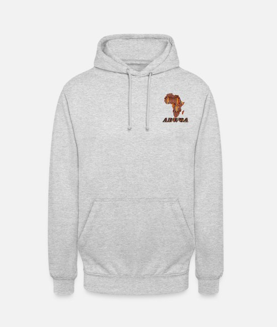 Gold Hoodies & Sweatshirts - Call me by my name ! ADWOA Ghana - Monday. - Unisex Hoodie light heather grey