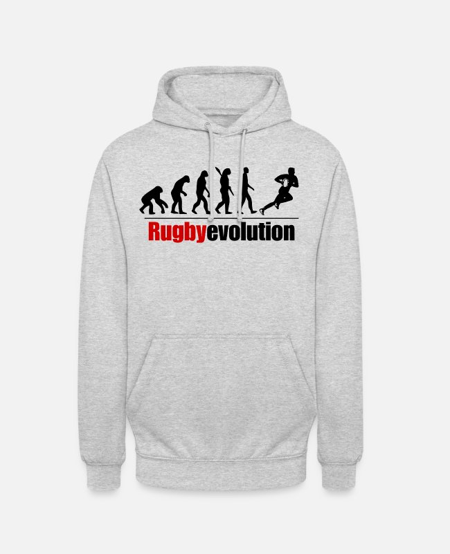 Rugby Hoodies & Sweatshirts - Rugby evolution - Unisex Hoodie light heather grey