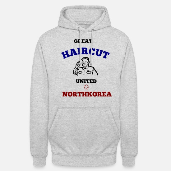Gift Idea Hoodies & Sweatshirts - NORTH KOREA NORTH KOREA KIM JONG UN T-SHIRT - Unisex Hoodie light heather grey