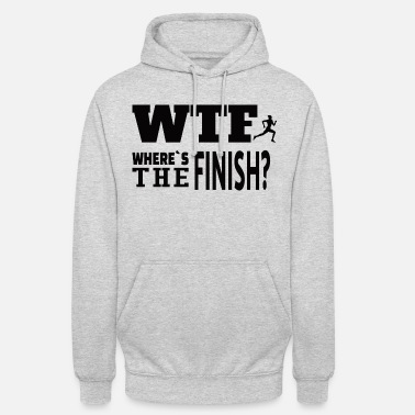 RUNNING: Where's The Finish - Unisex Hoodie