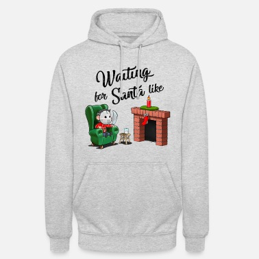 Ugly Christmas Jason by the fireplace is waiting for Santa - Unisex Hoodie
